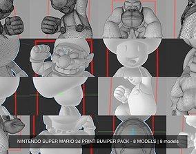 NINTENDO SUPER MARIO 3d PRINT BUMPER PACK - 8 MODELS