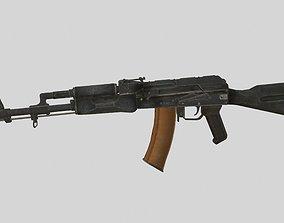 AK-47 3D model low-poly PBR