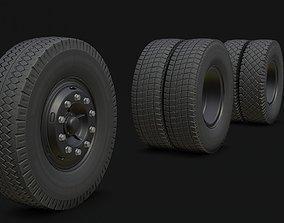 Wheel KAMAZ 3D asset