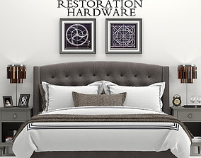 3D model RH Warner Tufted Fabric Bed