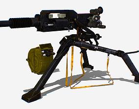 3D asset Soviet AGS-17 Plamya automatic Grenade Launcher