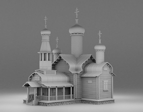 Cathedral building 3D printable model