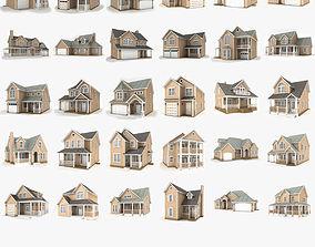 Hi-poly cottages mega pack 2 3D