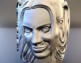 3D model of a mug with Harley Quinn