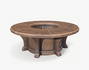 Round table 3D model realtime