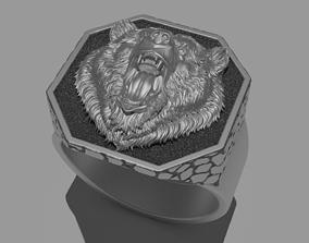 3D printable model Brutal Bear Ring