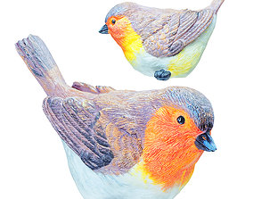 Figurine Red Bird 03 3D
