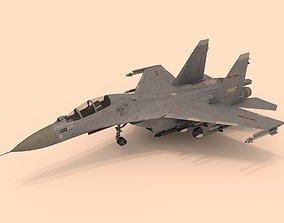 3D model Sukhoi Su-30 MKK rigged
