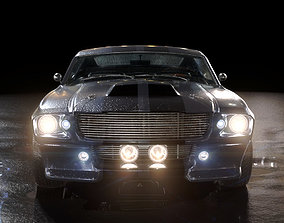 3D automotive Ford Mustang Shelby GT 500 1967