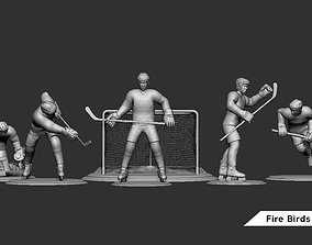 Ice Hockey Player Goalie Collection 3D printable model 6