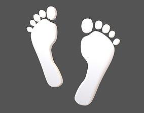 Foot Prints v2 003 3D model