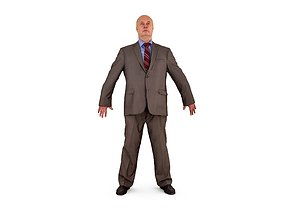 Business Human A-Pose 3D asset realtime