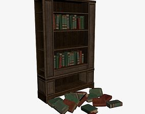 3D asset VR / AR ready Bookcase page