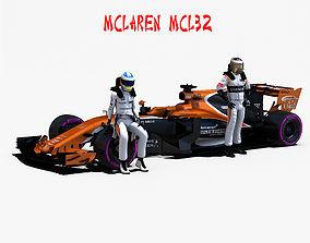 3D model rigged McLaren MCL32