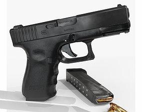 Glock 19 lowpoly 3D asset