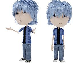 Cartoon Boy Rigged 3D asset low-poly