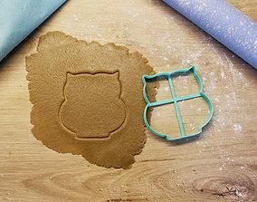 3D print model Owl cookie cutter cake