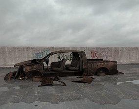destroyed car 009 am165 3D model