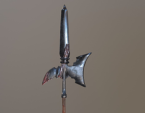 3D model Medieval Halberd