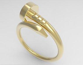 Model 155 Nail Ring silver