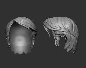 Short Hair stylized 3D printable model