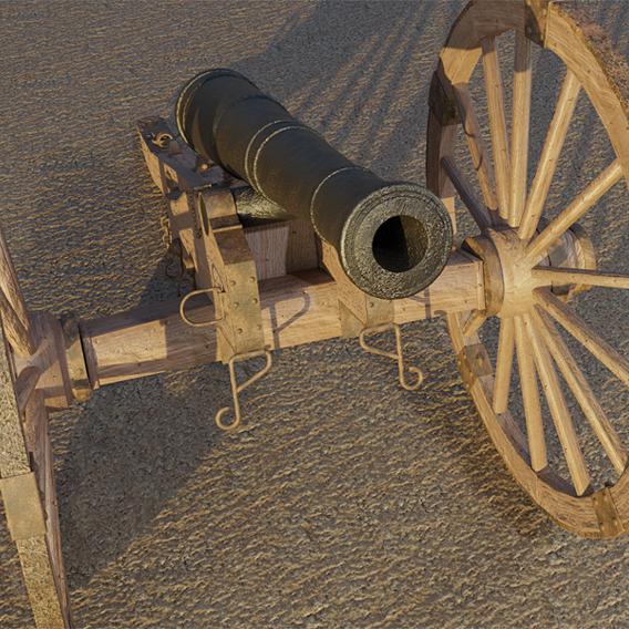 Civil War Cannon Replica 3D