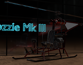 Ultralight Helicopter Mosquito Mk III 3D asset