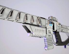 lazer Sci-fi Weapon 3D model low-poly