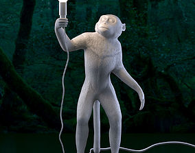 3D model SELETTI The Monkey Lamp Standing