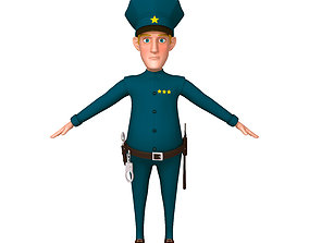 3D model Policeman Cartoon 02