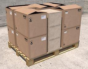 BOX PALLET transport 3D model