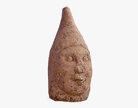 3D model low-poly Ancient Statue