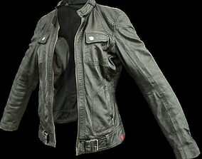 Black Leather Jacket 3D asset