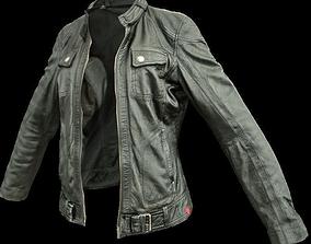 Black Leather Jacket 3D asset
