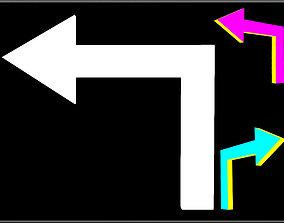 3D asset 90 Degree Turn Arrow