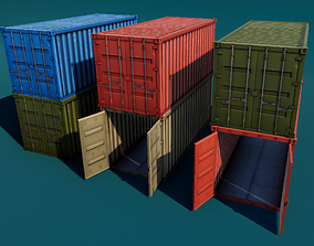 Shipping Container Stylized 3D asset