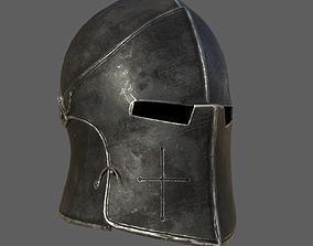 Medieval Knight Helmet x 3 Textures 3D asset