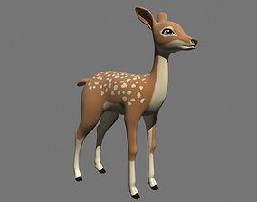 Cartoon deer 3D model