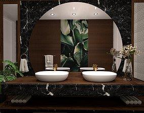 3D model animated modern bathroom