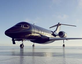 private jet black - ANIMATABLE PARTS 3D model