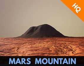 Mars Planet Mountain Terrain Landscape Desert 3D asset 2