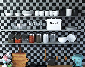 dish Kitchen Props 3D