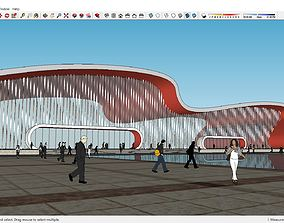 Sketchup Railway station B2 3D model