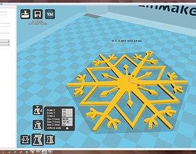 3D printable model decoration Snowflake