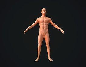 Base Mesh Male Body Baked PBR 3D asset