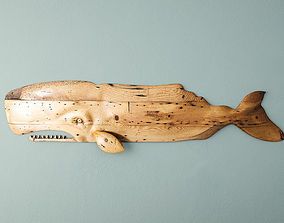 Hand-Carved Sperm Whale 5 3D model