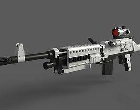 3D model C320 Carbine LowPoly