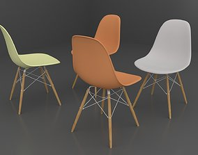 3D model Simple Colour Chairs Office