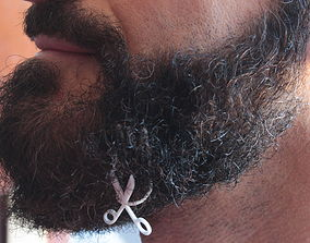 3D print model Scissors for beard - lateral wearing