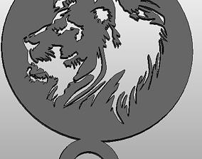 3D print model Coffee Stencil - Lion